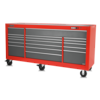 "Proto® 550E 88"" Power Workstation - 18 Drawer, Safety Red and Gray"